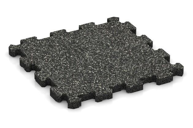 Fitnessmatte von WARCO im Farbdesign Dunkelgrauer Granit mit den Abmessungen 306 x 306 x 20 mm. Produktfoto von Artikel 3724 in der Aufsicht von schräg vorne.