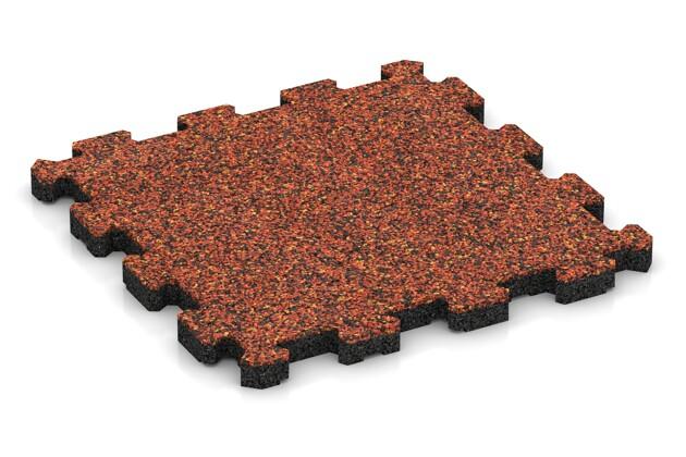 Terrassenboden von WARCO im Farbdesign Feuersglut mit den Abmessungen 306 x 306 x 20 mm. Produktfoto von Artikel 3733 in der Aufsicht von schräg vorne.