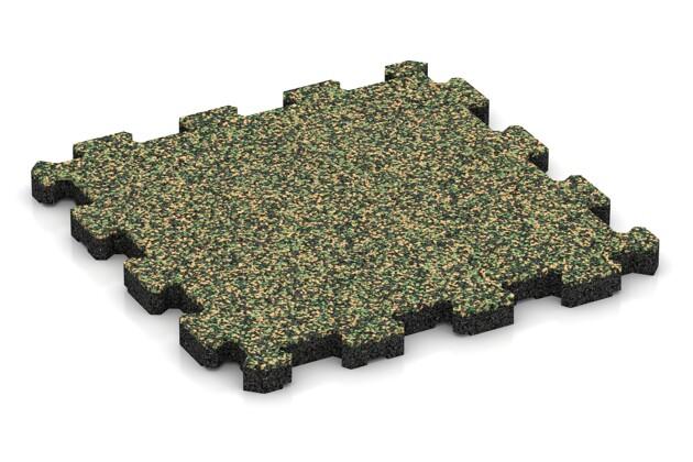 Fitnessmatte von WARCO im Farbdesign Savanne mit den Abmessungen 306 x 306 x 20 mm. Produktfoto von Artikel 3715 in der Aufsicht von schräg vorne.
